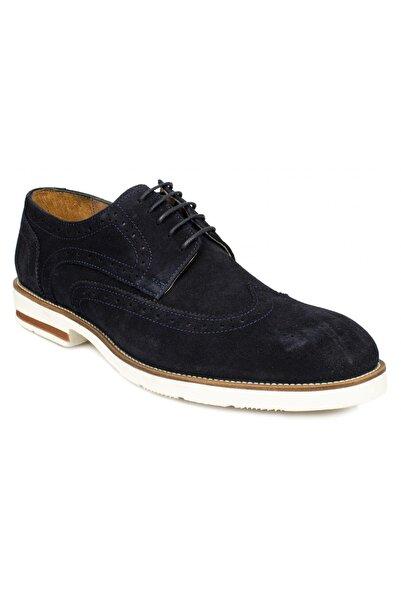 İnci Erkek Lacivert Hakiki Deri Bağcıklı Ayakkabı Ko9670