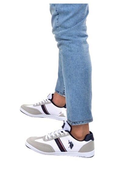 Kares Beyaz Erkek Sneaker Spor Ayakkabı