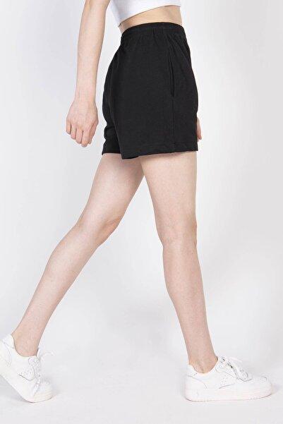 Addax Kadın Siyah Cep Detaylı Şort Ş0941 - A1 ADX-0000022301