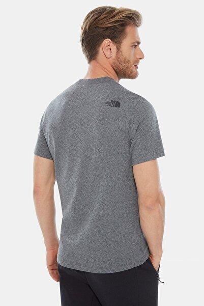 Erkek Gri Sıfır Yaka Tişört