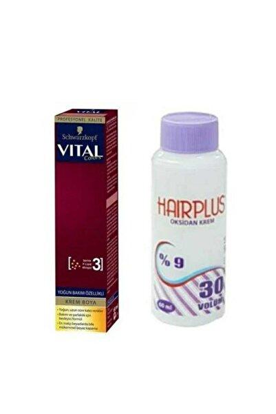 SCHWARZKOPF HAIR MASCARA Vital Colors Küllü Sarı 9-00 + Hairplus Mini Oksidan Krem 30 Vol.