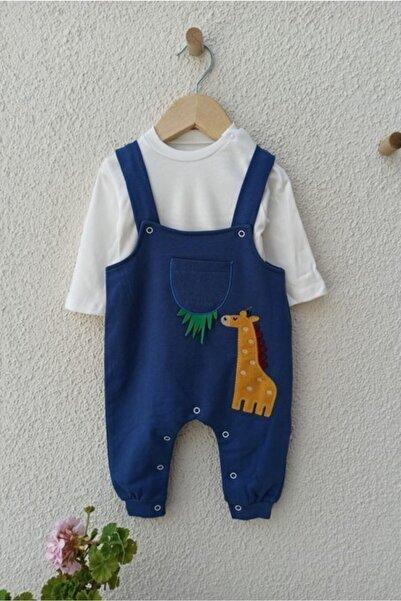 Murad Zürafa Işlemeli Badili Erkek Bebek Salopet 3-6-9-12 Ay