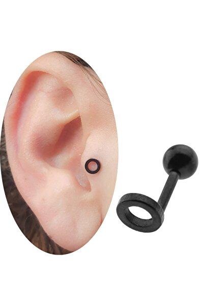 Cadının Dükkanı Cerrahi Çelik 5 mm Siyah Halka Objeli Kulak-Kıkırdak-Helix Piercing