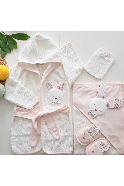 Gaye Yeni Koleksiyon Kız Bebek Havlu Bornoz Seti 100826