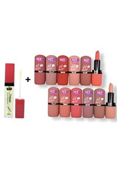 Makeuptime Matte Hot 12'li Ruj+ Dudak Dolgunlaştırıcısı 8ml