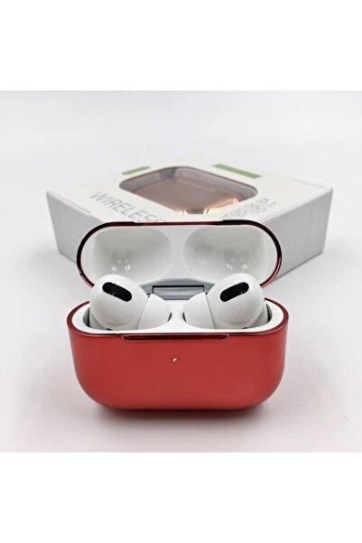LETANG Airpods Pro Bluetooth 5.0 Kulaklık Apple Iphone Android Uyumlu Bluetooth Kulaklık-kırmızı