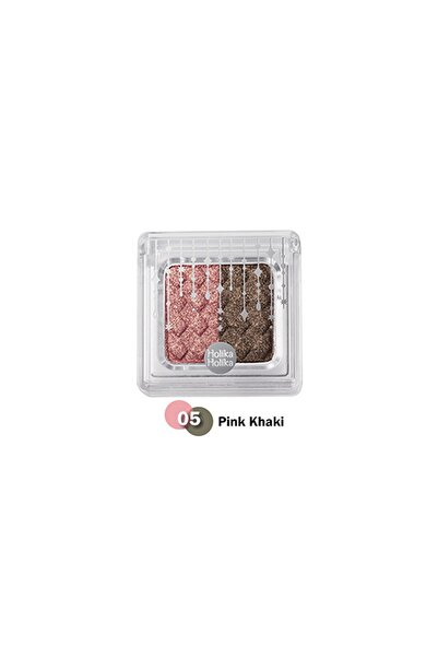 Holika Holika Jewel-light Two Color Eyes 05 Pinkbeam-khaki
