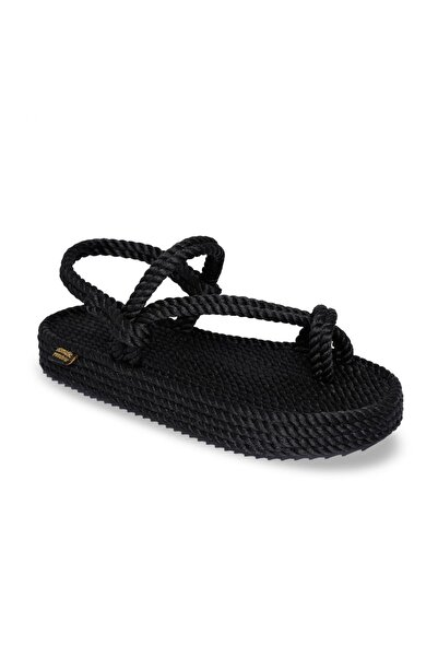 Nomadic Republic Hawaii Platform Siyah Kadın Sandalet