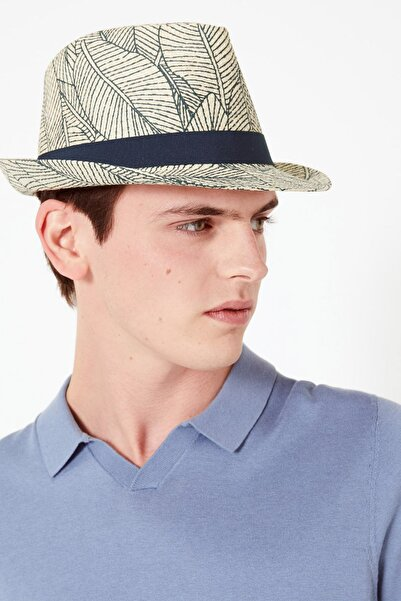 Marks & Spencer Erkek Multi Renk Tropikal Desenli Fötr Şapka T09003501