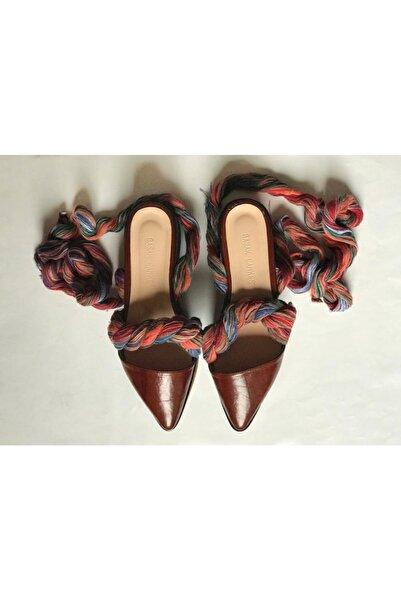 Bashaques Kadın Kahverengi Yüksek Taban Gaudi Deri Sandalet