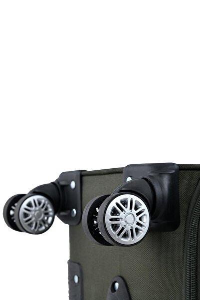 Haki Unisex Orta Boy Valiz Fsl010 4 Tekerlekli