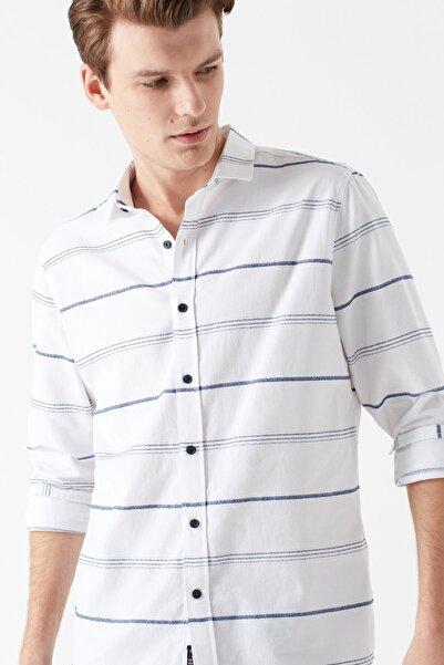 Erkek Beyaz Çizgili Gömlek 021443-620