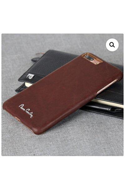 Pierre Cardin Imzalı Deri Arka Kapak For Iphone (7plus / 8plus) Kahverengi