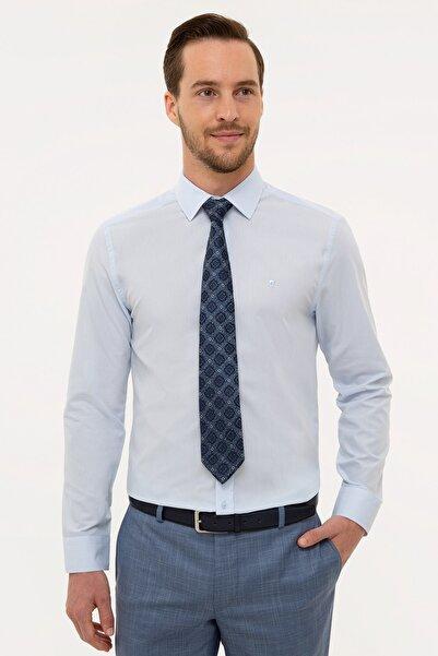 Pierre Cardin Erkek Açık Mavi Slim Fit Basic Gömlek
