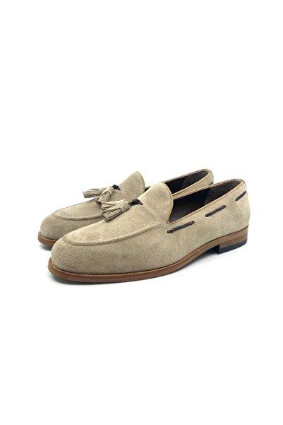TETRİ Bej Hakiki Süet Klasik Ayakkabı
