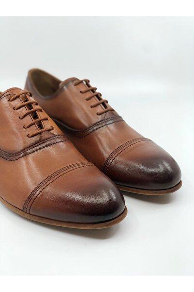 TETRİ Erkek Kahverengi Taba Hakiki Deri Klasik Ayakkabı