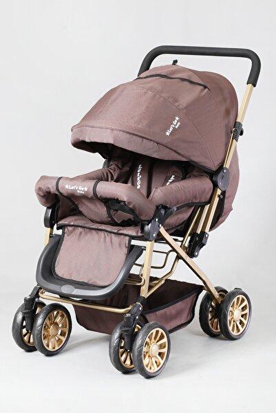 LETS GO BABY Berre Çocuk Ergonomik Kahve Gold Bebek Arabası