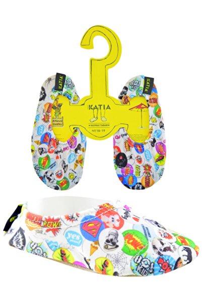 Katia&Bony Çocuk Renkli Cartoon Kaydırmaz Makosen
