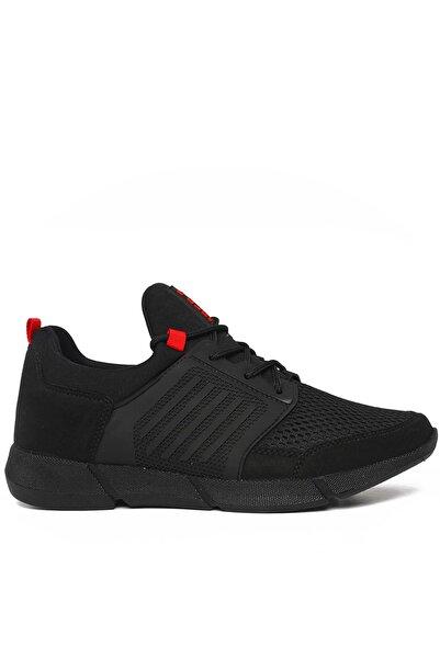 Siyah Kırmızı Erkek Sneaker Gls105