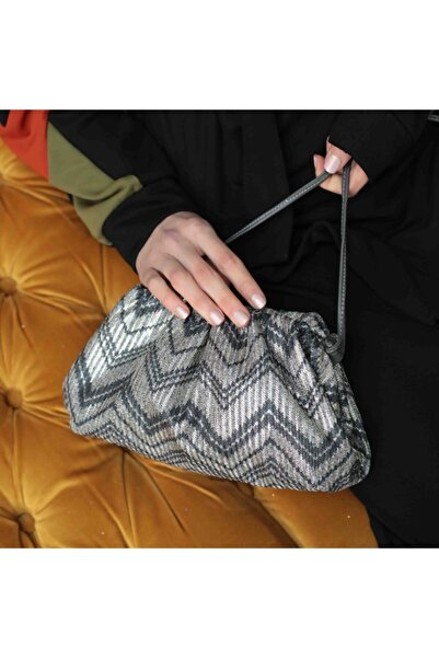 yumabag Evening Bag- Silver Çanta