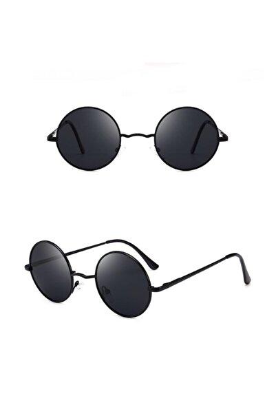 Steam Klasik Siyah Yuvarlak Jhon Lennon Güneş Gözlüğü