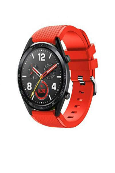 TahTicMer Huawei Watch Gt2 46mm Sport Kordon Silikon Kırmızı