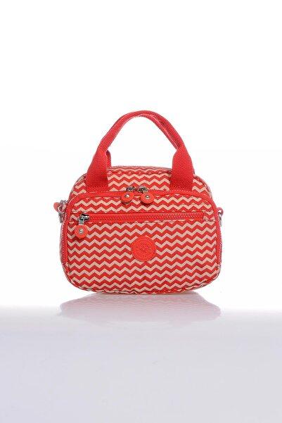 Barcelona Kadın Kırmızı Bej Çapraz Çanta Brck3048-0134