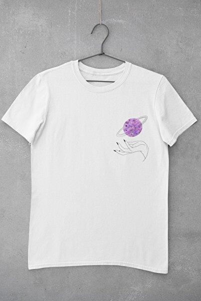 Tshigo Hand of Space Baskılı Kadın T-Shirt