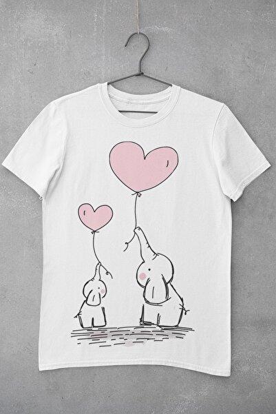 Tshigo Elephant Love Baskılı Kadın T-Shirt