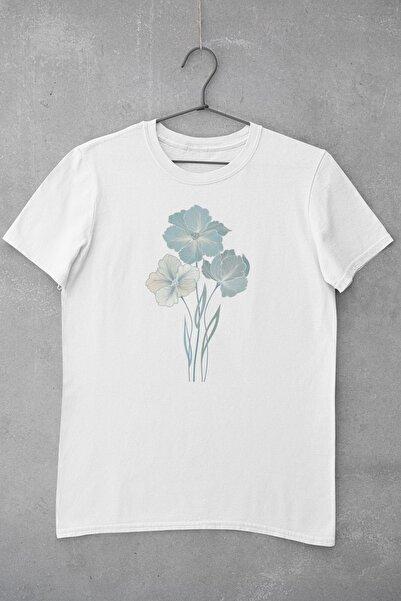 Tshigo Watercolor Flower Baskılı Kadın T-Shirt