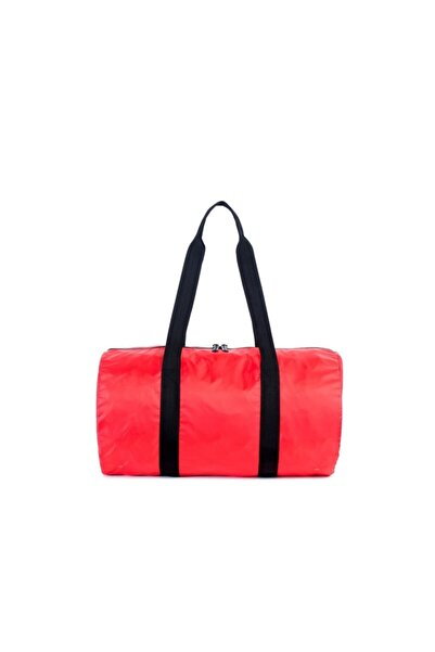 Herschel Supply Co. Katlanır Seyahat, Spor Çantası Packable Duffle Red/Black