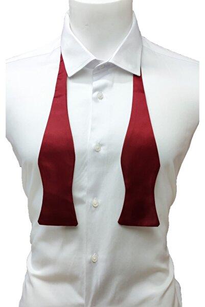 Elegante Cravatte Bordo Renk Açık Papyon