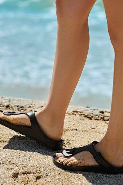 Oysho Kadın Siyah Tokalı Plaj Terliği