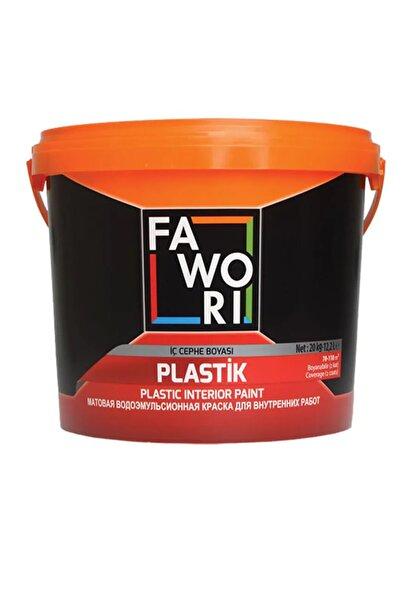 Fawori Plastik İç Cephe Duvar Boyası 10 Kg-Kül Gri