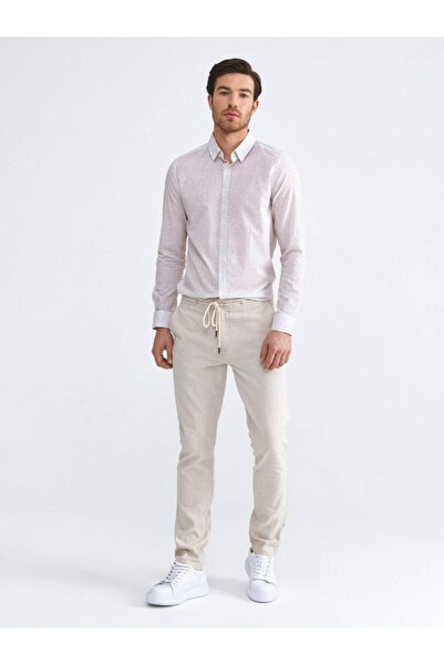 Xint Erkek Bej Slim Fit Pantolon
