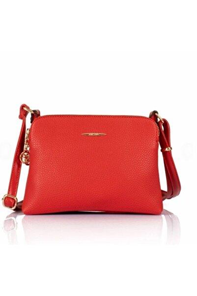 Pelikan Kadın Kırmızı Deri Çanta