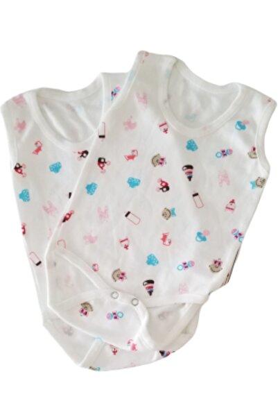 Kardelen Beyaz Bebe Kolsuz 2li Body