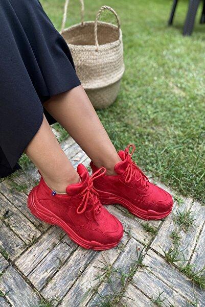 İnan Ayakkabı Kadın Kırmızı Sneaker