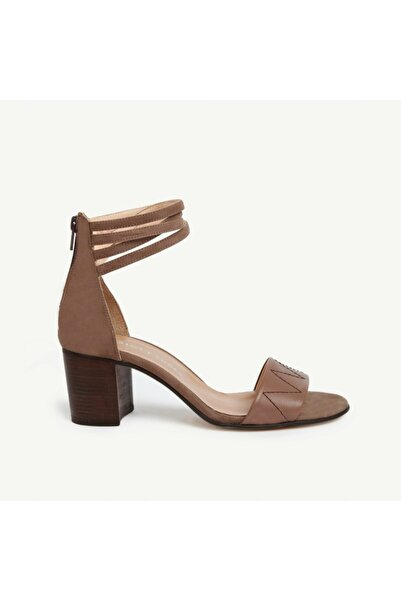 Yargıcı Kadın Vizon Deri Topuklu Sandalet 9YKAY4085X