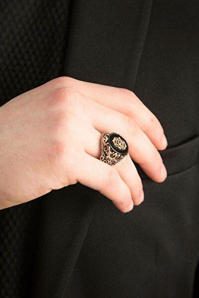 Papatya Silver 925 Ayar Oniks Taşlı Gümüş Erkek Yüzük