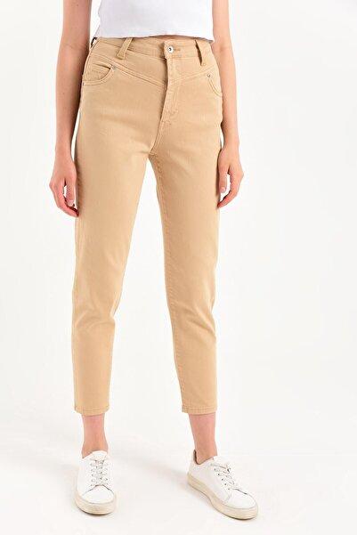 Kate Mom Fıt Renkli Denim Pantolon