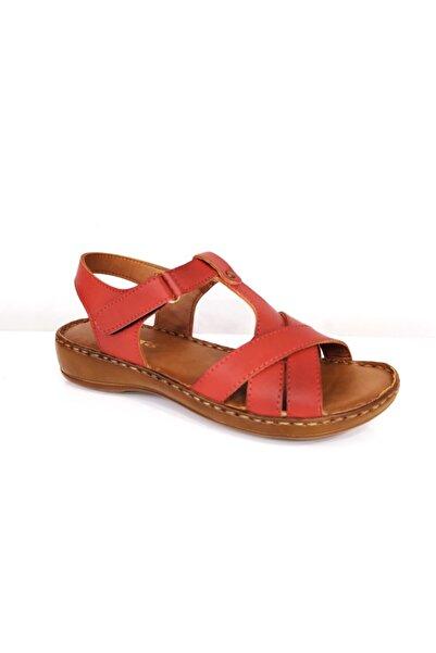 PUNTO Kadın Kırmızı Ortopedik Sandalet