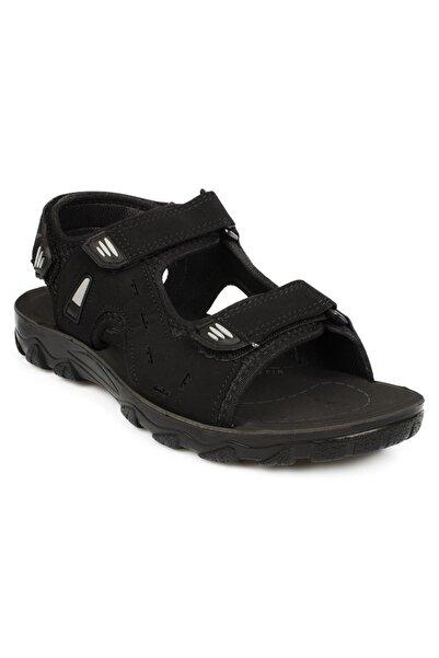 Twigy Ss0410 M Tw Pars Çift Bant Siyah Erkek Sandalet
