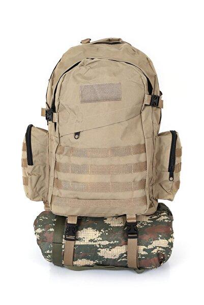 Asker Kolisi Bej Outdoor Taktik Askeri Dağcı Çanta 75 L