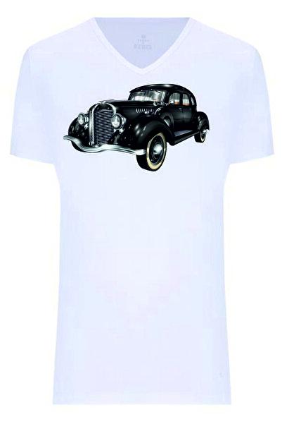 Dolce Baskılı Tişört - Classıc Car 1
