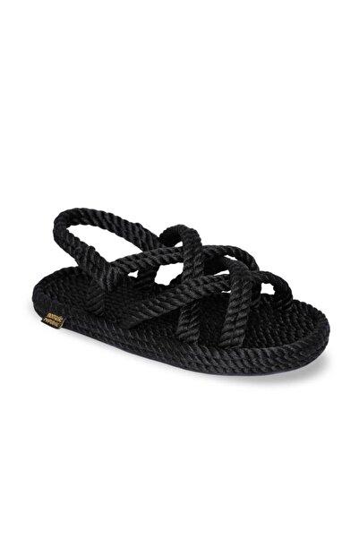 Nomadic Republic Bodrum Kauçuk Tabanlı Çocuk Halat & İp Sandalet - Siyah