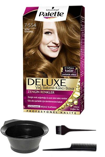 SCHWARZKOPF HAIR MASCARA Palette Deluxe 7-554 Altın Karamel Saç Boyası Ve Saç Boyama Seti