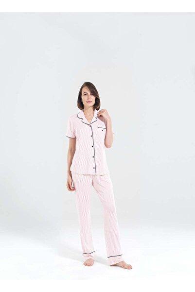 Blackspade Kadın Uzun Pijama Takımı 50155 - Çizgi Desenli