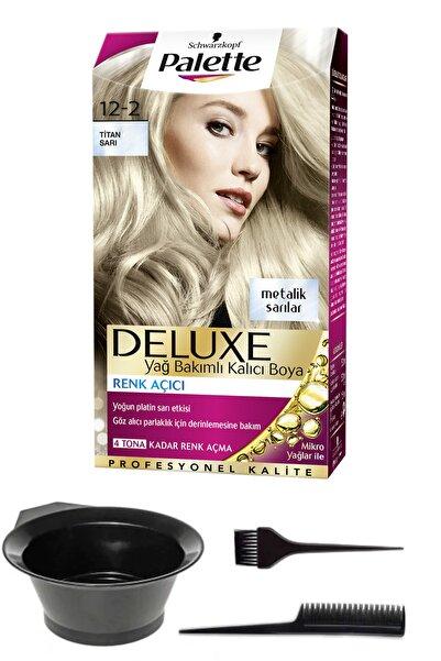 SCHWARZKOPF HAIR MASCARA Palette Deluxe 12-2 Titan Sarı Saç Boyası ve Saç Boyama Seti