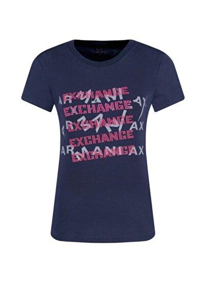 Armani Exchange Kadın Lacivert T-shirt